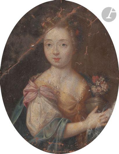 École française du XVIIe siècle Portrait...