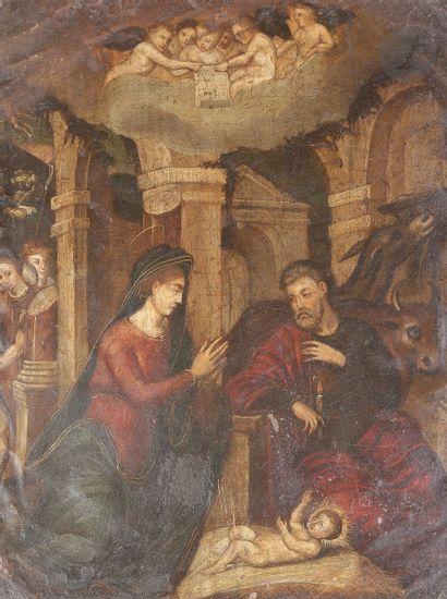 École Flamande du XVIIe siècle L'adoration...