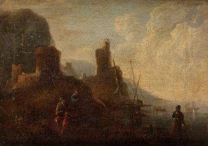 École ITALIENNE du XVIIIe siècle Pêcheurs...
