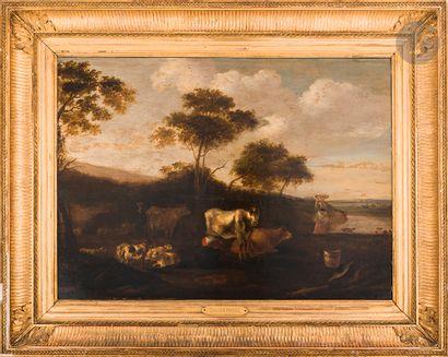 Jacob Gerritz van BEMMEL (1628 - 1673) Troupeaux...