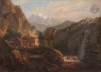 École FRANÇAISE vers 1850, suiveur d'Auguste...