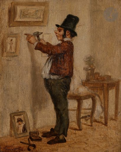 Paul GAVARNI (1804-1866) Le Collectionneur...