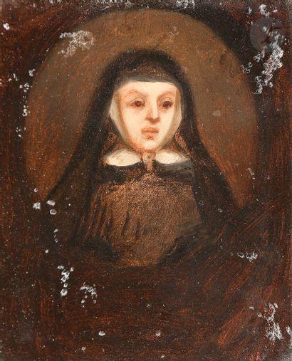 École FRANÇAISE du XIXe siècle Portrait d'une...