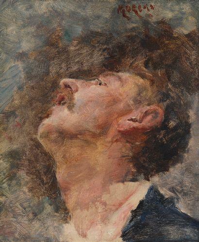 Georges MOREAU DE TOURS (1848-1901) Visage...