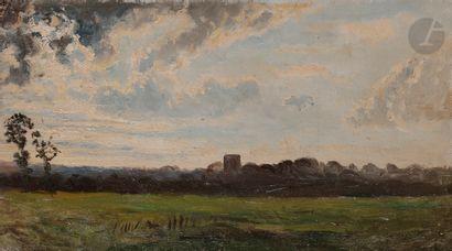 Paul HUET (1803-1869) Falaise, la Tour Guillaume...