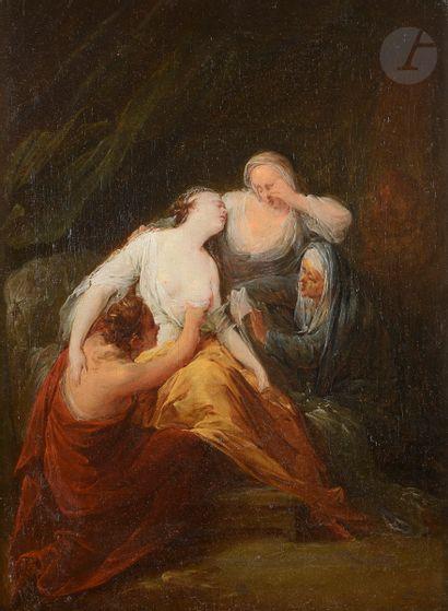 École ESPAGNOLE vers 1780 Le malaise Toile...