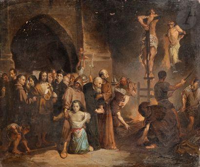 Joaquin PINTO (Quito 1842 - 1906) L'inquisition...