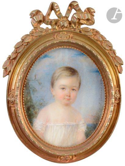 Jenny GIRBAUD (1822-Paris 1894) Portrait...