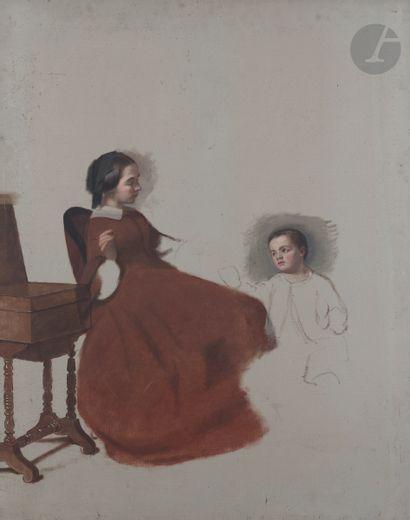École FRANÇAISE vers 1830, entourage de Claude...