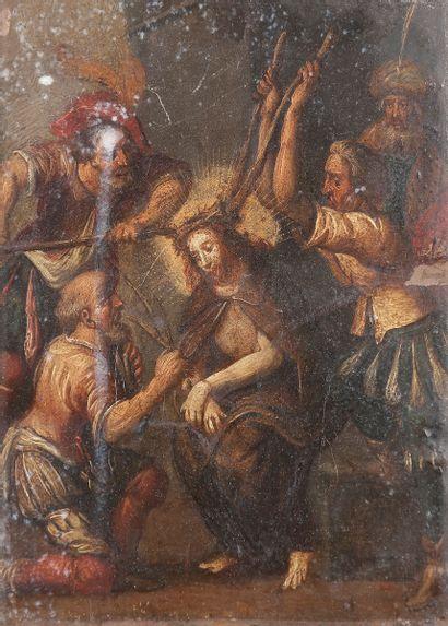 École Flamande du XVIIe siècle Le couronnement...