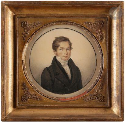 PASQUIER (actif au XIXe siècle) Portrait...