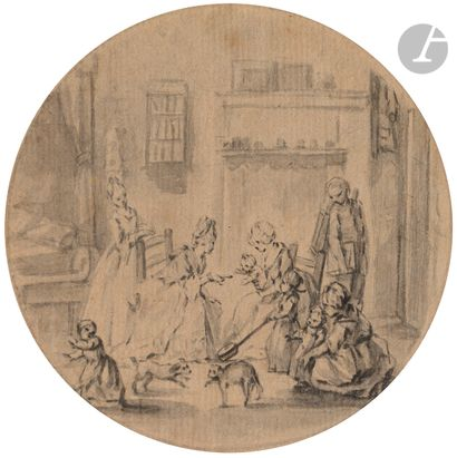 Attribué à Clément Pierre MARILLIER (1740-1808)...