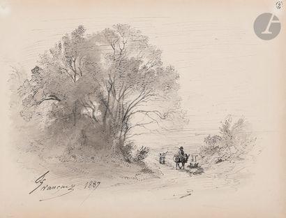 François Louis FRANÇAIS (1814-1897) Paysage...