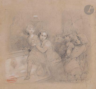 Gustave WAPPERS (1803 - 1874) Scène de l'histoire...
