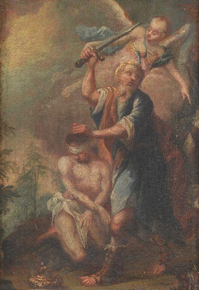 École ALLEMANDE vers 1700 Le sacrifice d'Abraham...