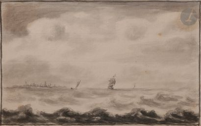 École HOLLANDAISE du XVIIIe siècle Marine...