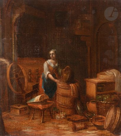 École HOLLANDAISE du XVIIIe siècle, dans...