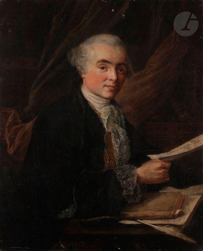 Dans le goût de Louis Gabriel BLANCHET Portrait...