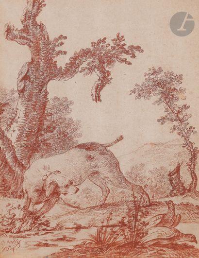 Jacques-Charles OUDRY (1720-1778) Chien de...