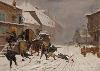 École FRANÇAISE du XIXe siècle L'attaque...