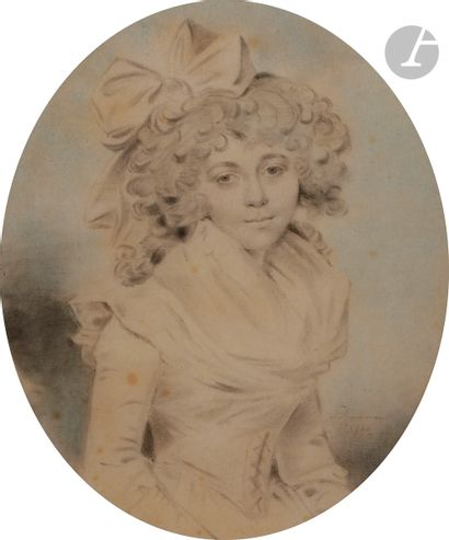 John DOWNMAN (Royaume-Uni 1750 - 1824) Paire...
