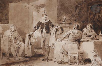 Attribué à Henri DE BRAEKELEER (1840-1888)...