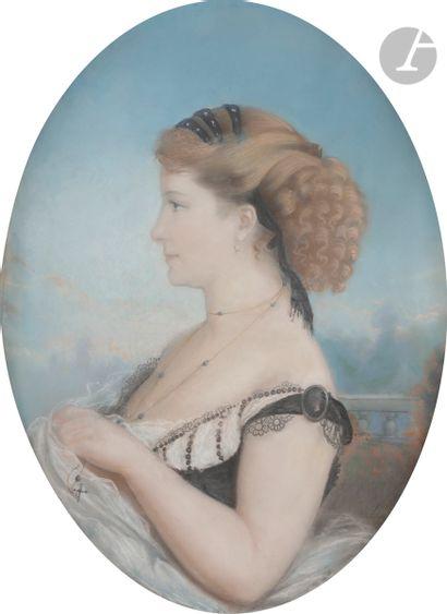 DEPORTES (actif au XIXe siècle) Portrait...