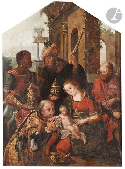 École ANVERSOISE vers 1520 L'Adoration des...