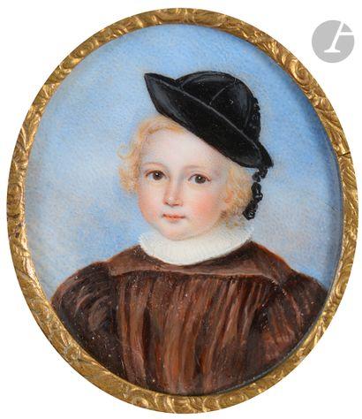 École FRANÇAISE, vers 1820 Tête d'enfant...