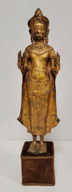 Statue de Bouddha, Thaïlande Debout, en abhaya...