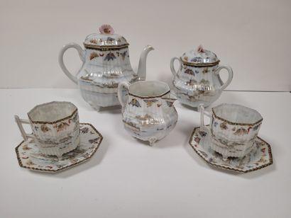 Service à thé en porcelaine, Japon, vers...