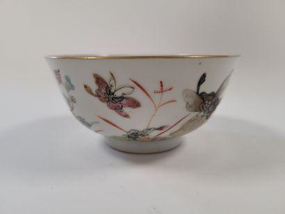 Bol en porcelaine, Chine, XIXe siècle A décor...