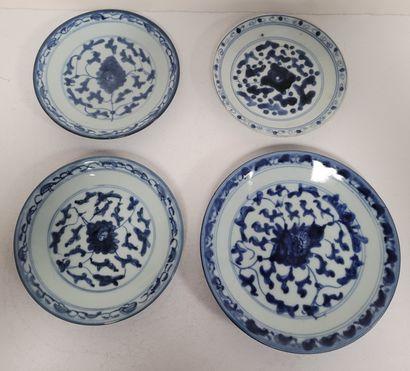 Ensemble de quatre assiettes, Chine, XIXe...