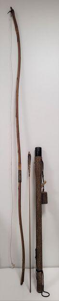 Arc Yumi de kyudo, Japon, XXe siècle En bambou...
