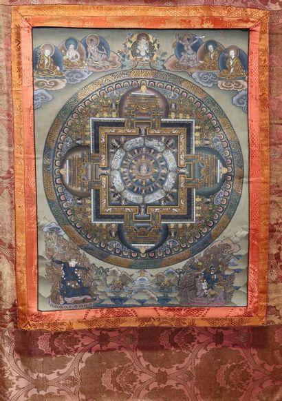Thangka, Tibet, XXe siècle Représentant un...