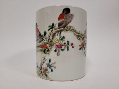 Porte-pinceaux ''bitong'' en porcelaine,...