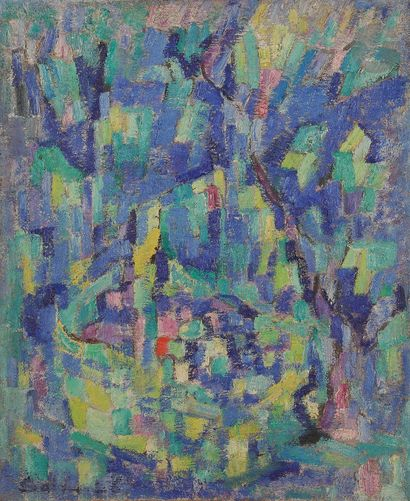 Sabine HETTNER (1906-1986) Composition, 1956...