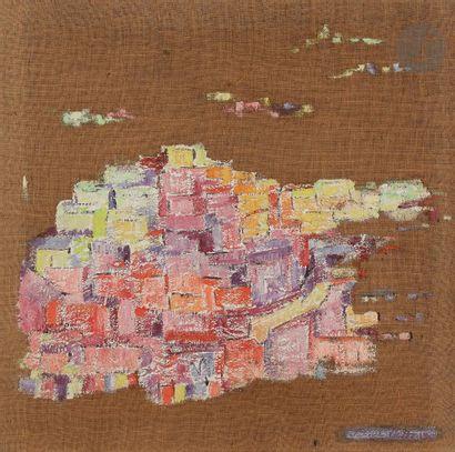 Sabine HETTNER (1906-1986) Village, 1958...