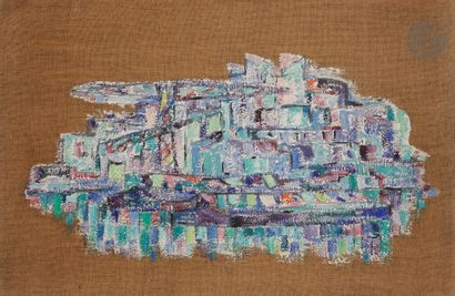 Sabine HETTNER (1906-1986) Le Port, 1957...