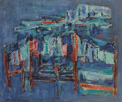 Sabine HETTNER (1906-1986) Les Filets, 1958...