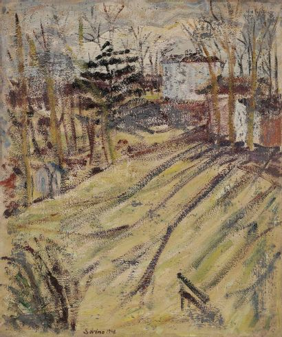 Sabine HETTNER (1906-1986) Le Parc, 1948...