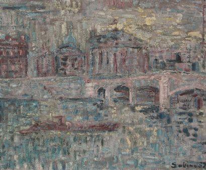 Sabine HETTNER (1906-1986) Paris, le pont...
