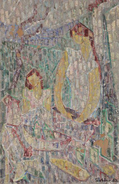 Sabine HETTNER (1906-1986) Marchande de poissons,...