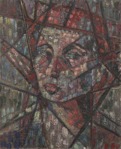 Sabine HETTNER (1906-1986) Autoportrait,...