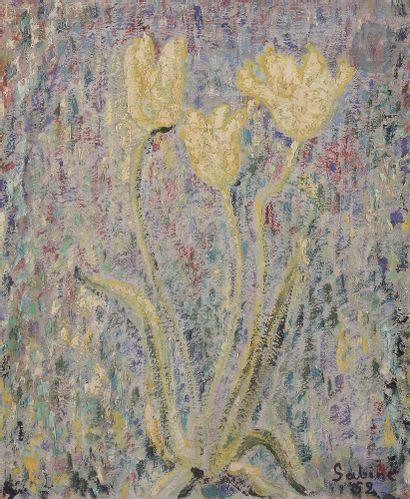 Sabine HETTNER (1906-1986) Tulipes, 1952...