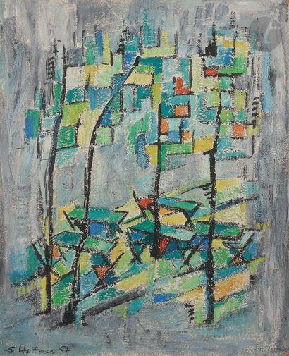 Sabine HETTNER (1906-1986) Composition, 1957...