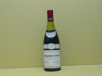 1 bouteille ROMANEE-CONTI, 1981 (LB/MB)
