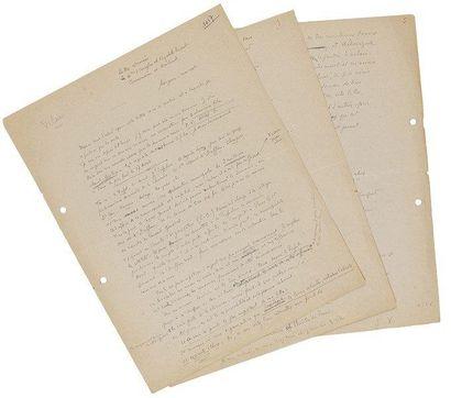 Jean VILAR Lettre autographe signée, Avignon [mars 1948], à Élisabeth Prévost; 5...