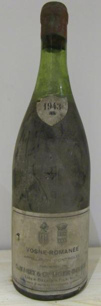 1 Bouteille VOSNE-ROMANÉE Marey & Liger-Belair 1943 (es, LB)