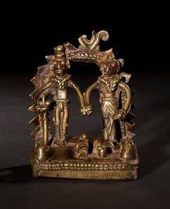 Autel shivaite miniature. Inde - Maharashtra...